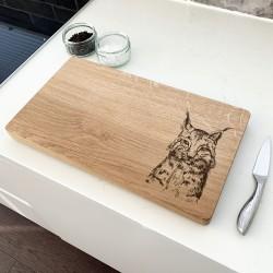 Oak Lynx Chopping Board