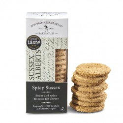 Spicy Sussex Alberts Biscuits for Cheese (4 packs)