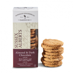 Almond & Dark Chocolate Sussex Alberts Biscuits - Gluten Free (4 Packs)