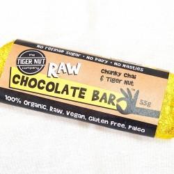 Raw Chai & Tiger Nut Chocolate Bar - 3 pack ( 3 x 55g )