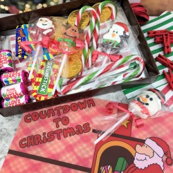 Christmas Bunting Advent Calendar Kit with Sweets