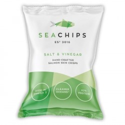 Salmon Skin Crisps - Salt & Vinegar (12 Pack)