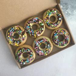 Vegan Vanilla & Chocolate Doughnuts (Box of 6)