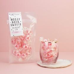 Boozy Raspberry Gin Rock Sweets