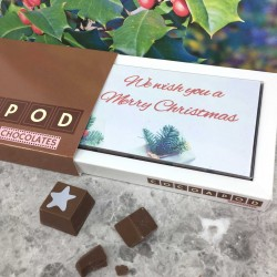 corporate christmas chocolates in small box with insert