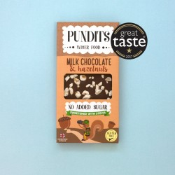 Handcrafted No Added Sugar Creamy Milk Chocolate & Hazelnut Bars (3 bars)