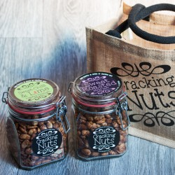 Cracking Nuts Gift Bag with 2 Jars of Hand-Roasted Nuts