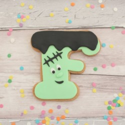 Personalised Frankenstein Themed Halloween Cookies