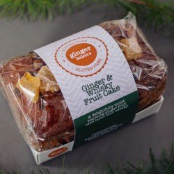 Gluten Free Ginger & Whisky Fruit Cake (500g)