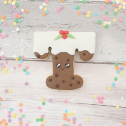 Cute Personalised Christmas Pudding Themed Cookies