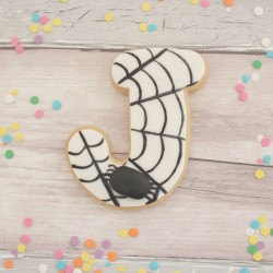 Personalised Spider Themed Letter Cookies