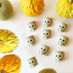 White And Dark Chocolate Skulls