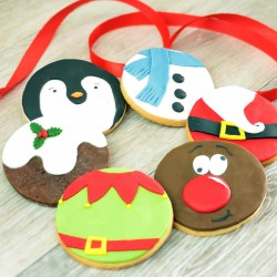 Hand Decorated Christmas Cookie Stocking Filler Gift Box
