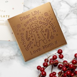 Personalised Sweet Christmas Chocolate Card
