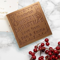 Personalised Chocolate 'Christmas Baubles' Card