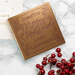 Personalised Mistletoe Christmas Chocolate Card