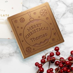 Personalised Bauble Christmas Chocolate Card