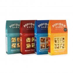 Savoury Popcorn Bestseller's Bundle of 4 Sheds | Gourmet Popcorn Gift