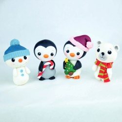 Personalised Hand Decorated Christmas Characters Cake Toppers
