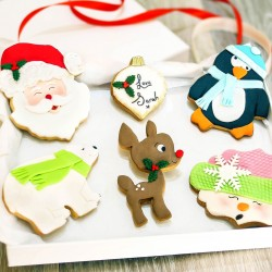 Personalised Christmas Iced Biscuit - Choose Your Design
