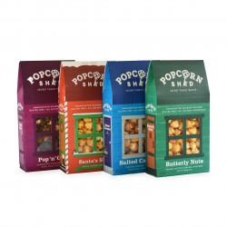 Sweet Popcorn Bestseller's Bundle of 4 Sheds | Gourmet Popcorn Gift
