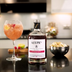 Personalised English Raspberry & Honey Gin with bottle light