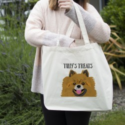 Personalised Dog Shopping Tote Bag