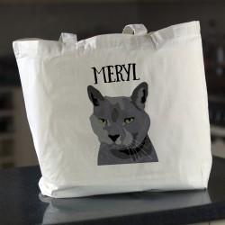 Personalised Cat Shopping Tote Bag