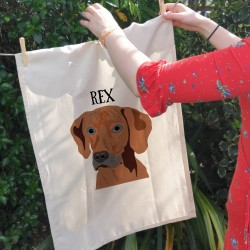 Personalised Dog Kitchen Tea Towel