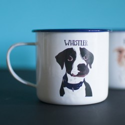 Personalised Dog Enamel Camping Mug