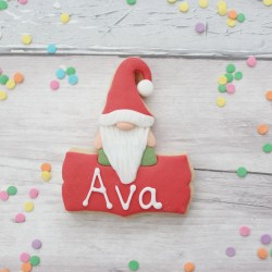Nordic Gnome Personalised Cookie