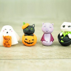Personalised Edible Halloween Cupcake Toppers