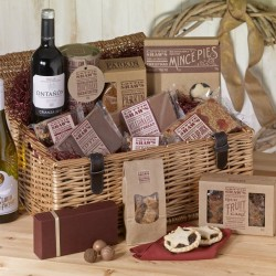 Christmas Large Basket Hamper with Wine