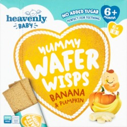 Heavenly Baby Yummy Wafer Wisps, Teething Wafers, Banana and Pumpkin (5 Pack)