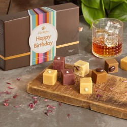 Happy Birthday Boozy Sharer - Gourmet Fudge Selection