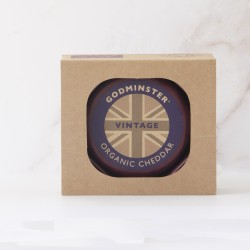 Godminster 400g Round Vintage Organic Cheddar in a Gift Box