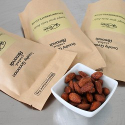 Roasted Almonds With Cinnamon in Biodegradable Pouch (Pack of 3)