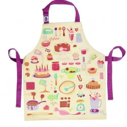 Fun Childs 'Let's Bake' Cotton Apron for Baking, Cooking or Art & Craft