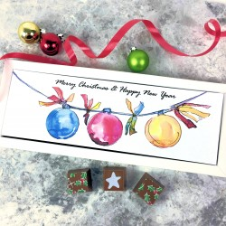 Personalised Christmas Chocolate Gift with Baubles Image