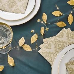Gold Leaves String Fairy Lights