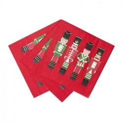 Nutcracker Christmas Napkins (Set of 16)