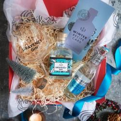 Christmas Graveney Hamper with branded glass