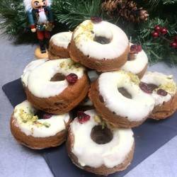 Christmas Cake Bronut - Baked Vegan Donuts (Box of 6)