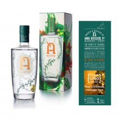 Gin with Personalised Gift Box Label - Corporate Gift