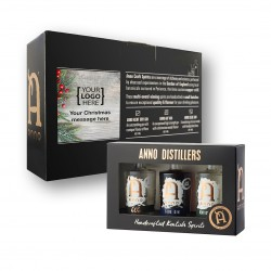 Miniature Spirits Gift Set with Personalised Label - Corporate Gift