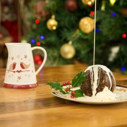 Set of 2 Christmas Puddings | Handmade Traditional & Chocolate Baileys Puddings