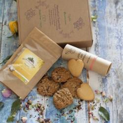 Tea and cookies, Gluten free and vegan. Hamper