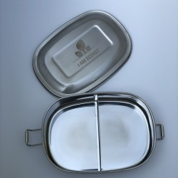 Reusable Single Tier Lunch Box in Stainless Steel (500ml)