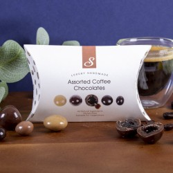 Assorted Coffee Chocolates - Luxury Mix of Espresso, Latte, Cappuccino and Coffee Bean Chocolates