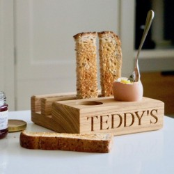 Wooden Egg & Soldiers Holder